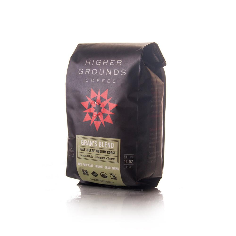 Higher Grounds Trading Company Gran's Half-Decaf Blend