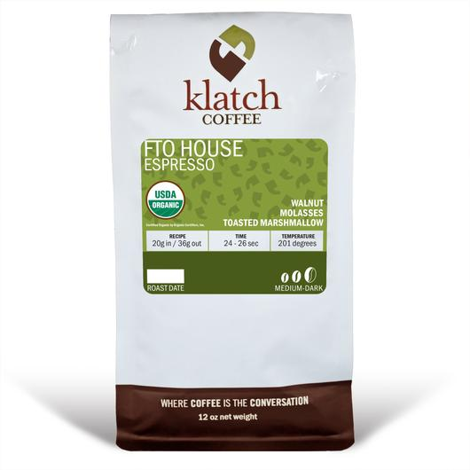 Klatch Coffee House Espresso Blend Free Trade Organic