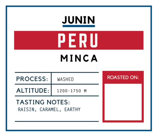 Brugh Coffee Peru Minca