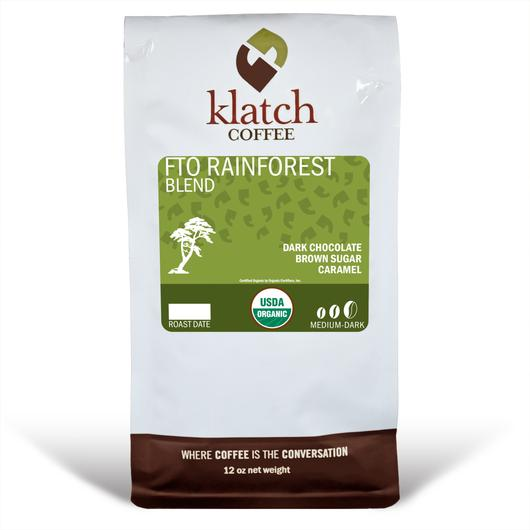 Klatch Coffee Rainforest Blend Free Trade Organic
