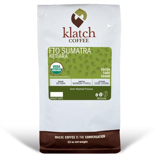 Klatch Coffee Sumatra Ketiara Free Trade Organic