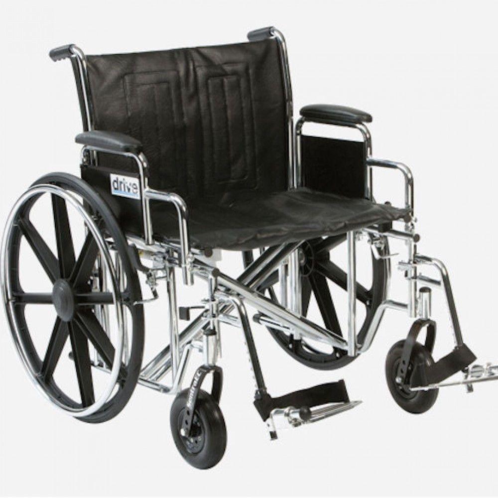Extra wide standard wheelchair
