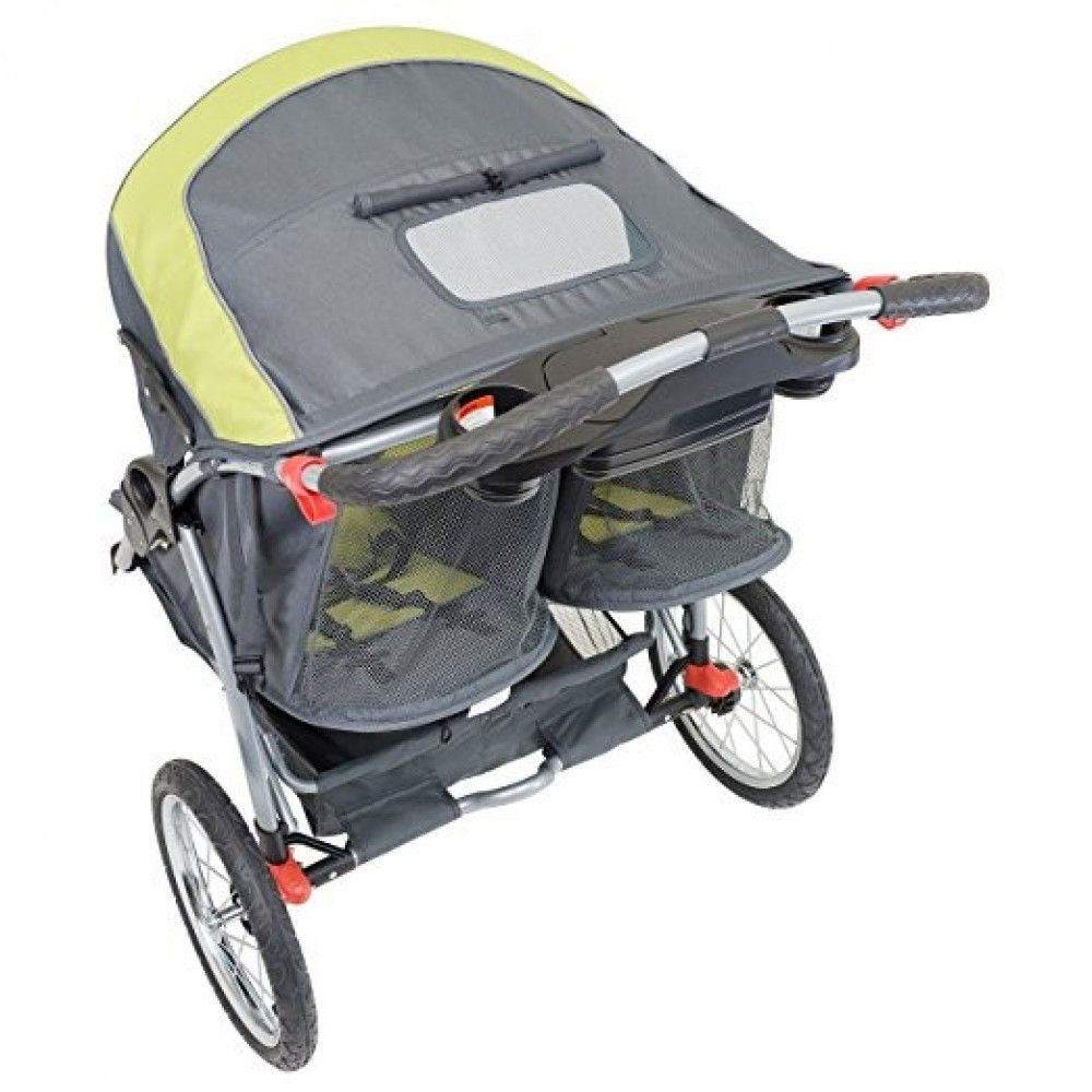 Double jogger stroller