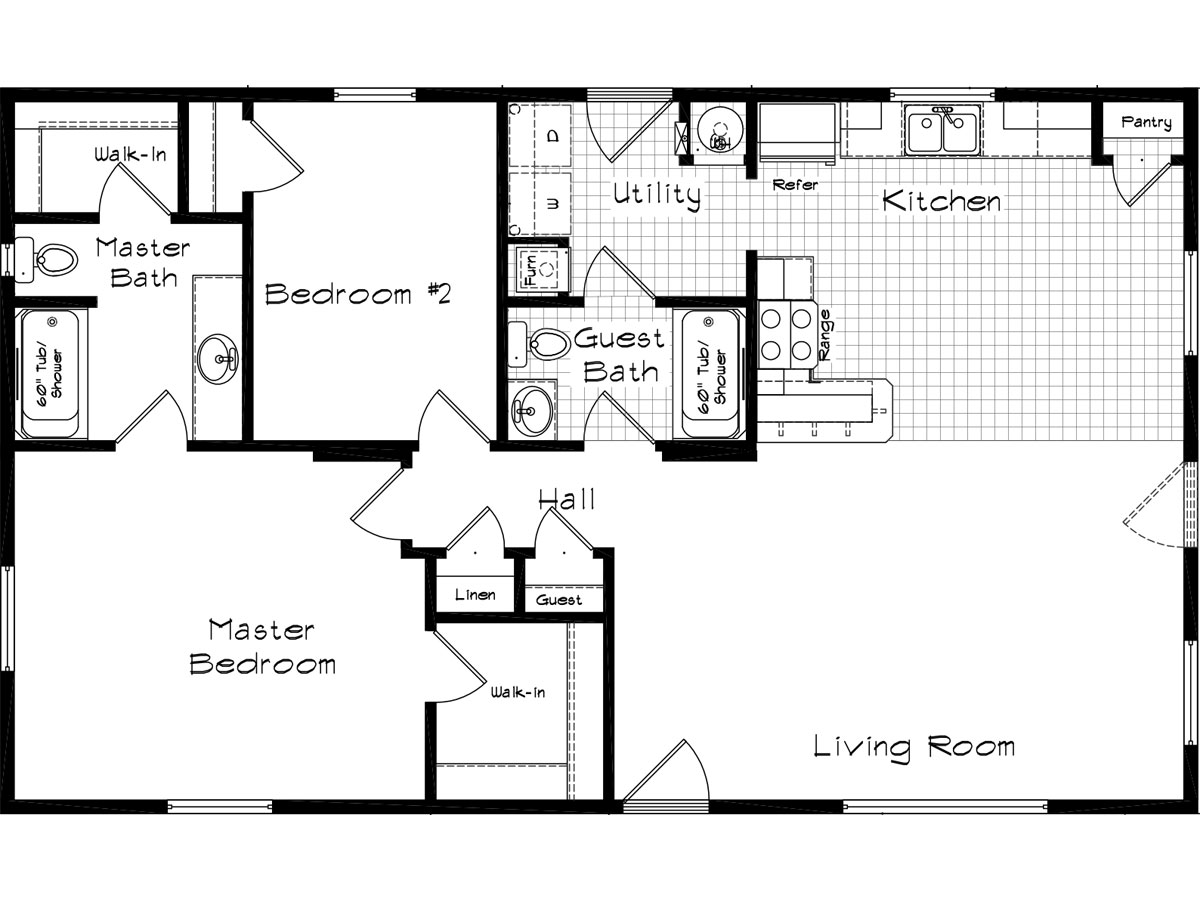 Floor Plan Layout: Cedar Canyon / 2048