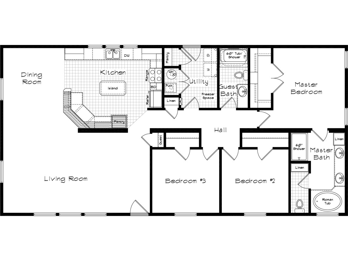 Floor Plan Layout: Cedar Canyon / 2057