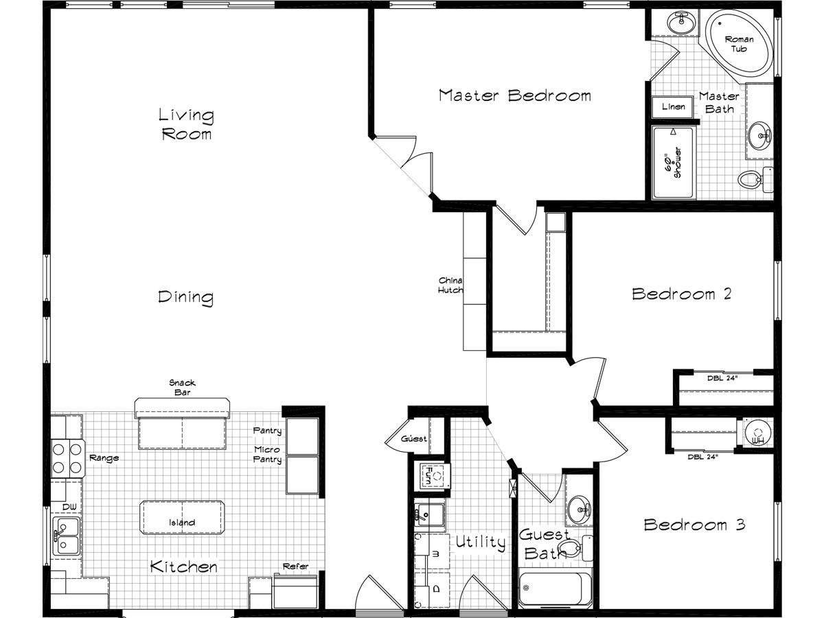 Floor Plan Layout: Cedar Canyon / 2073