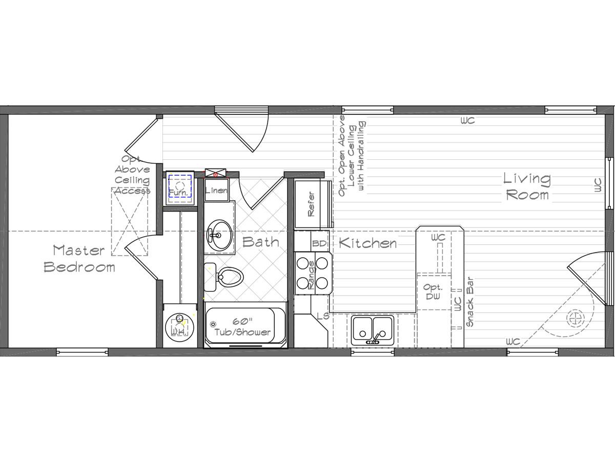 Floor Plan Layout: Cottage / 1001