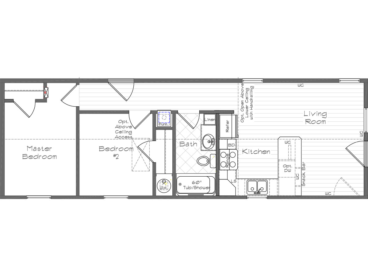 Floor Plan Layout: Cottage / 1002