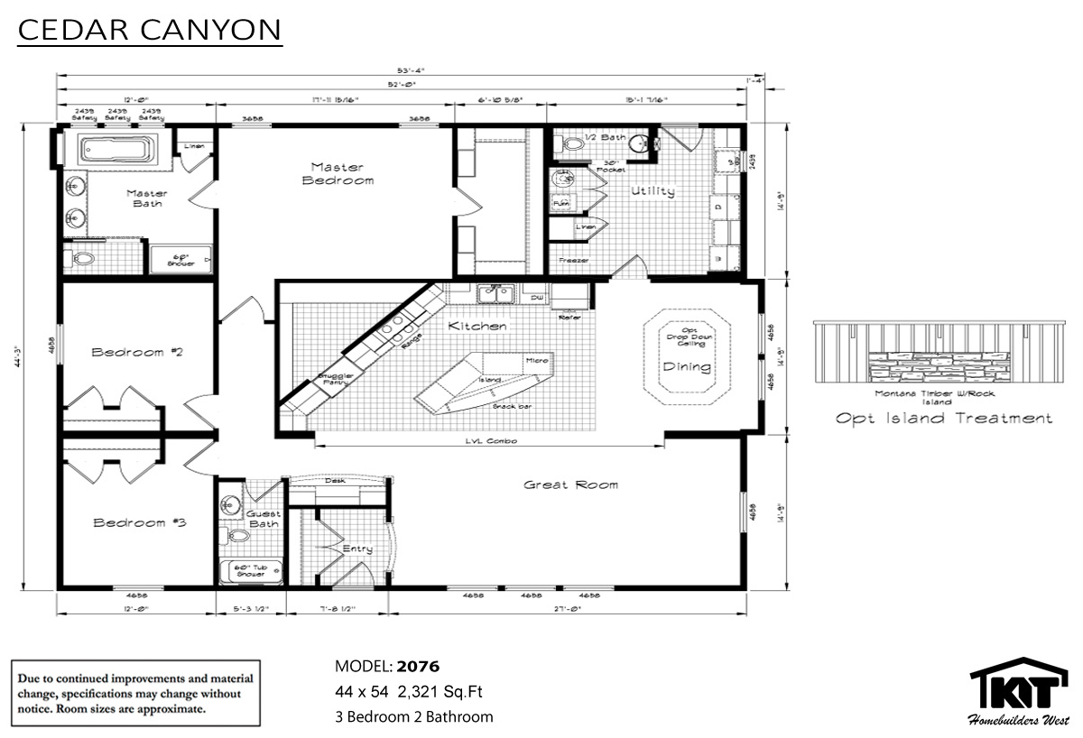 Floor Plan Layout: Cedar Canyon / 2076