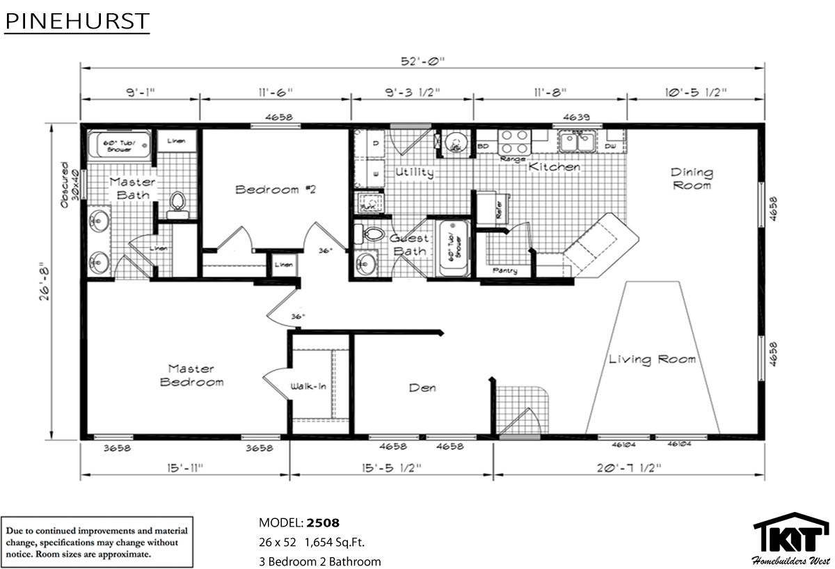 Floor Plan Layout: Pinehurst / 2508