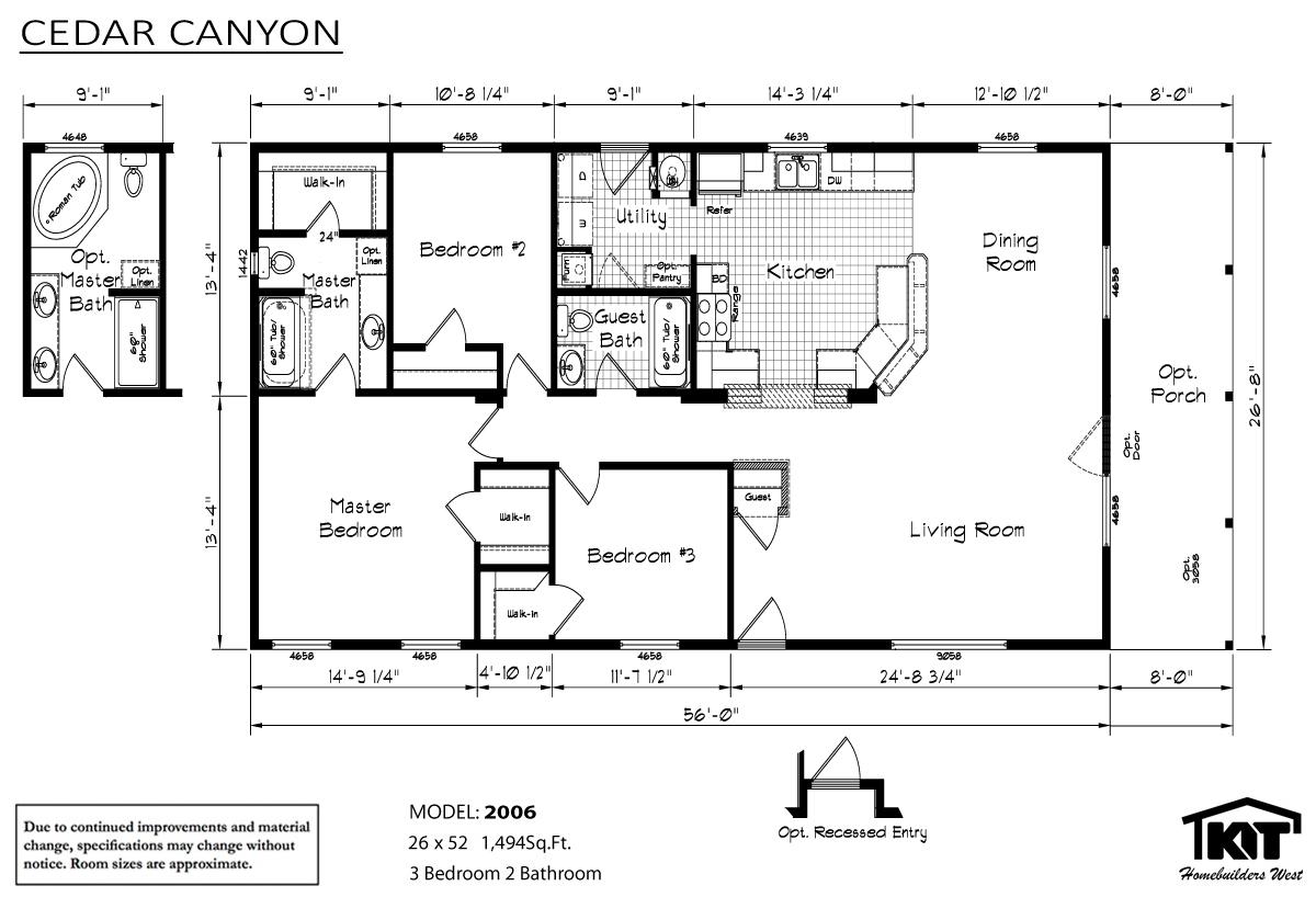 Floor Plan Layout: Cedar Canyon/2006
