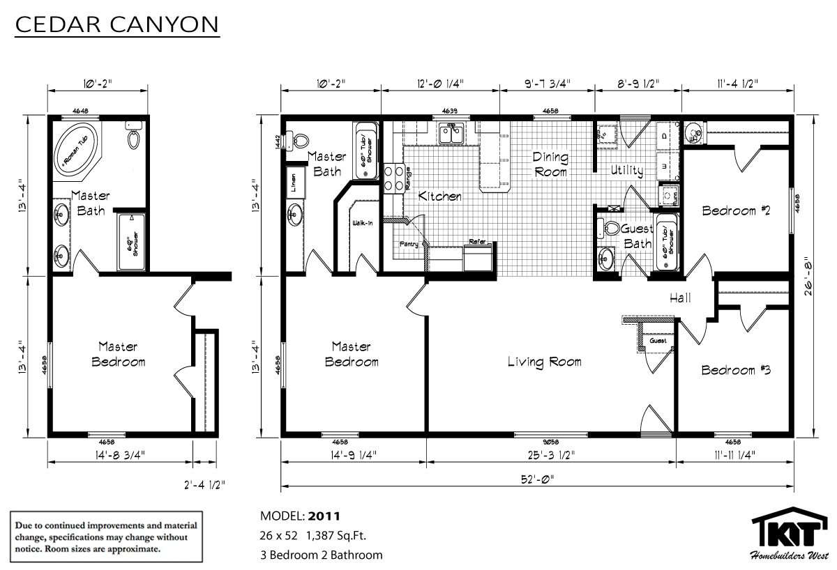 Floor Plan Layout: Cedar Canyon/2011