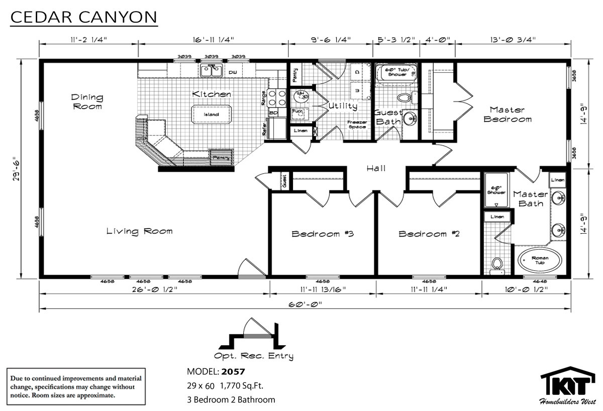 Floor Plan Layout: Cedar Canyon/2057