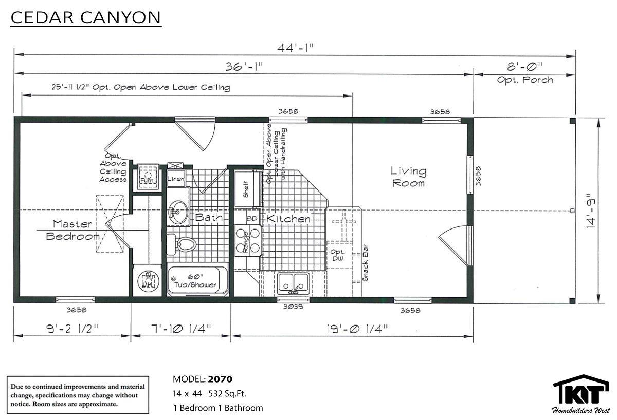 Floor Plan Layout: Cedar Canyon/2070