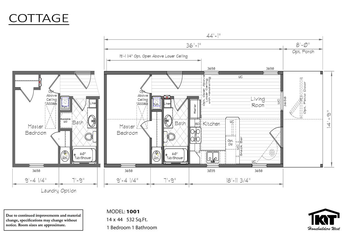Floor Plan Layout: Cottage/1001