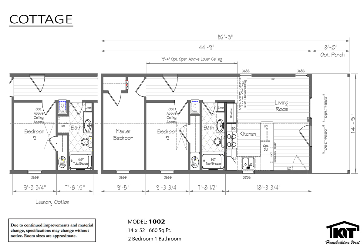 Floor Plan Layout: Cottage/1002