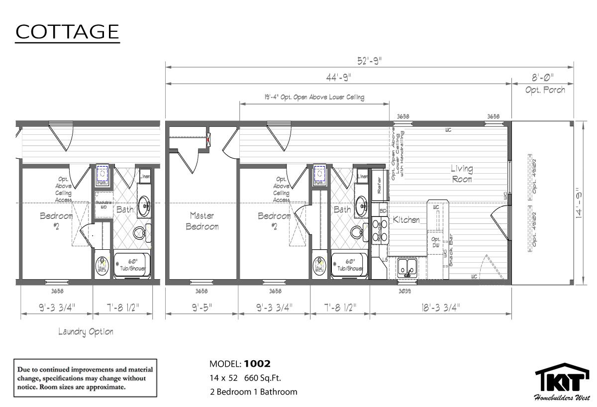 Floor Plan Layout: Cottage/1002