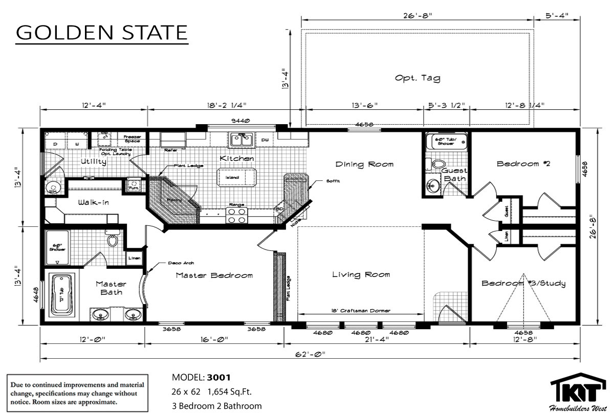 Floor Plan Layout: Golden State/3001