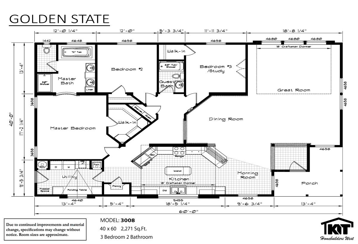 Floor Plan Layout: Golden State/3008