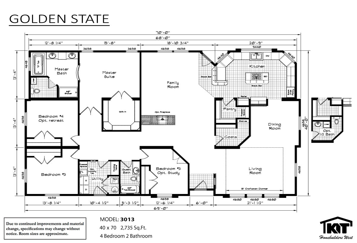 Floor Plan Layout: Golden State/3013