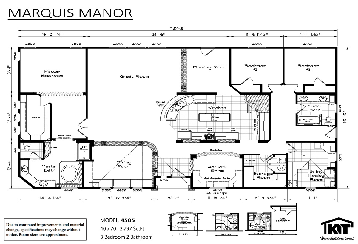 Floor Plan Layout: Marquis Manor/4505