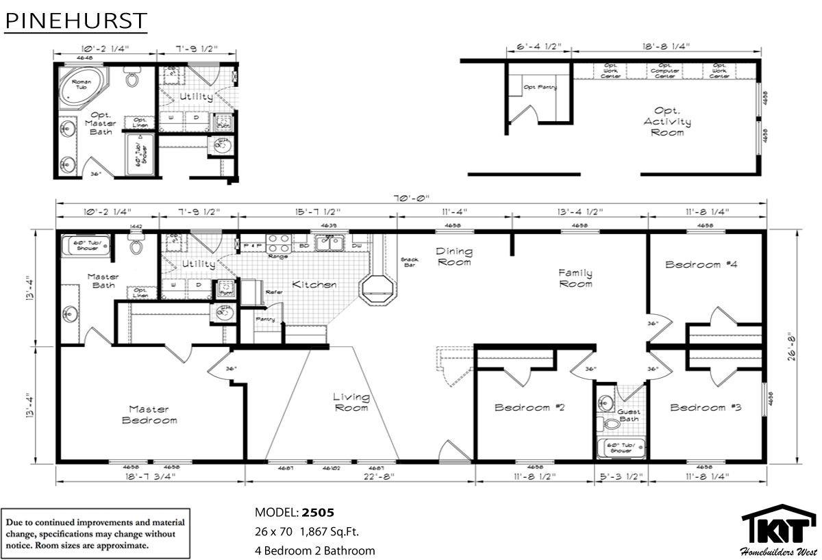 Pinehurst 2505 home by american home store for American west homes floor plans