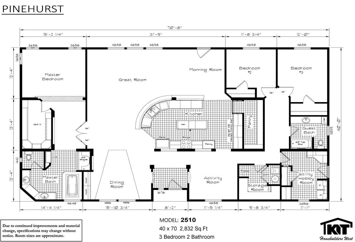 Floor Plan Pinehurst 2510