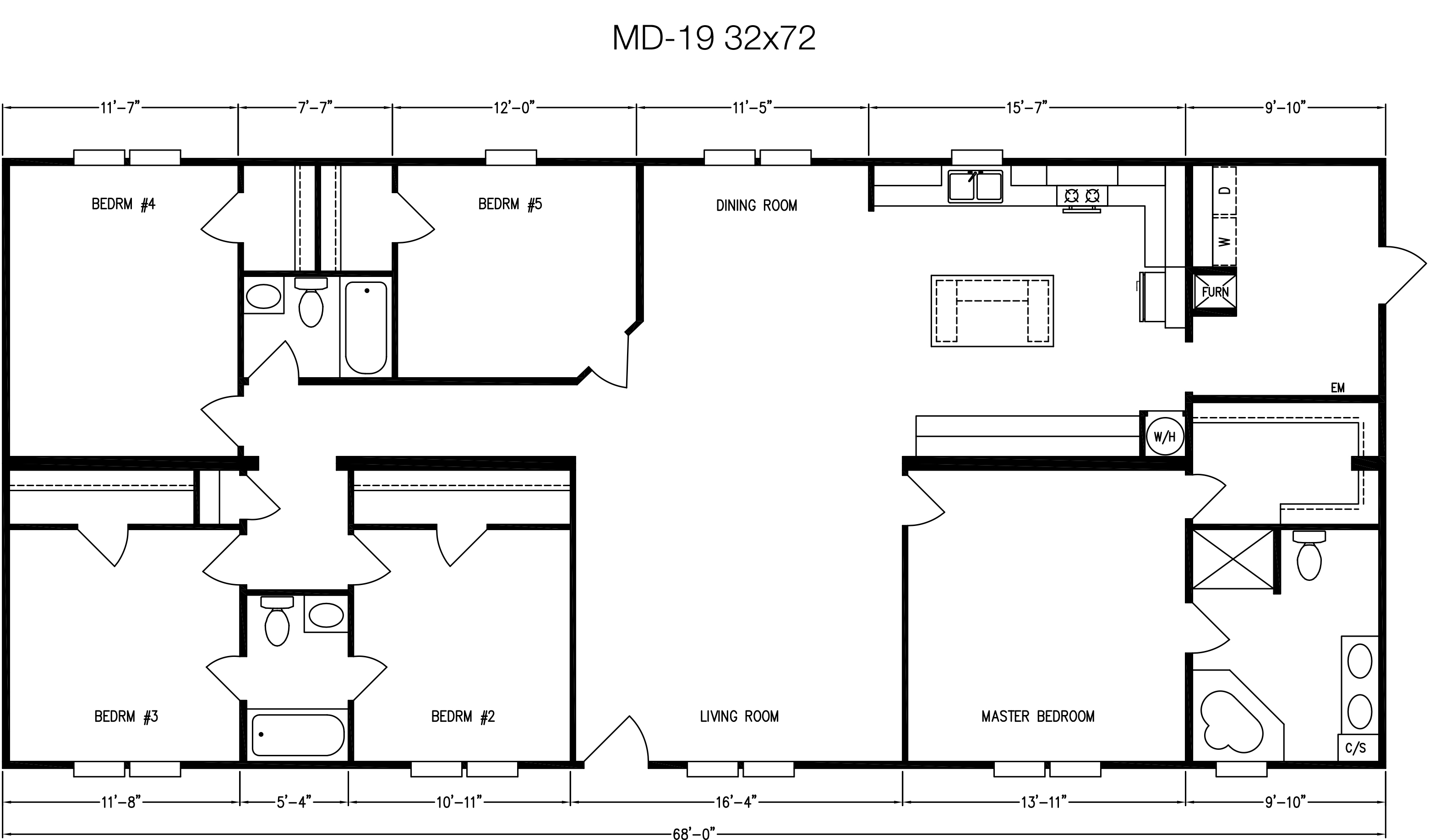Floor Plan Layout: MD Series / MD-19-32