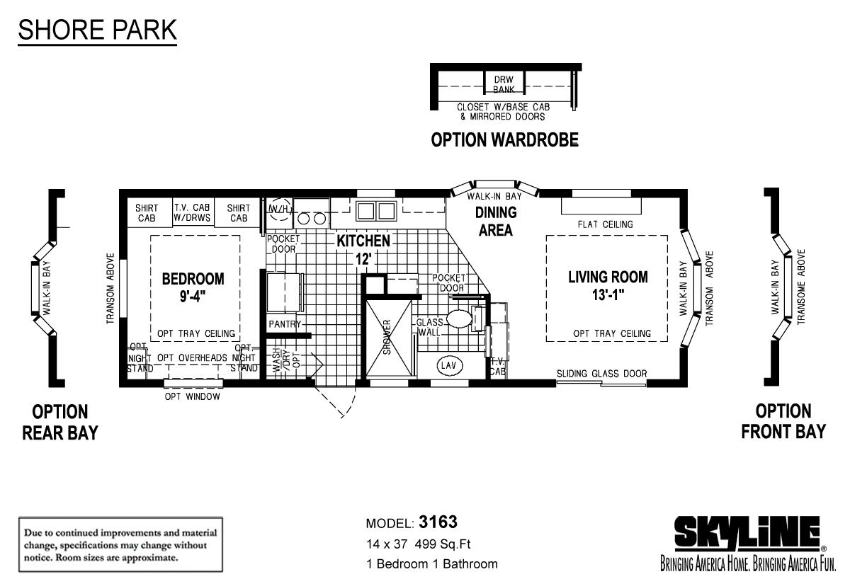 Floor Plan Layout: Shore Park / 3163