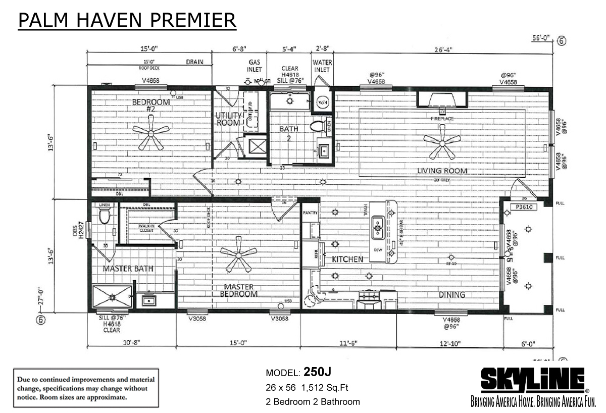 Floor Plan Layout: Palm Haven Premier / 250J