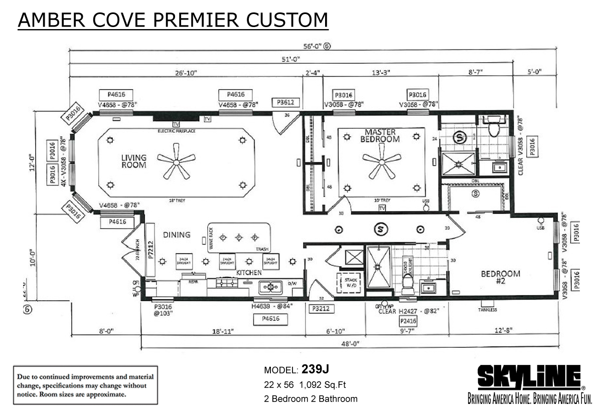 Floor Plan Layout: Amber Cove Premier Custom / 239J