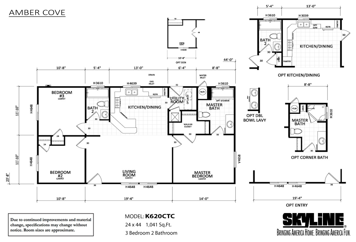 Floor Plan Layout: Amber Cove / K620CTC