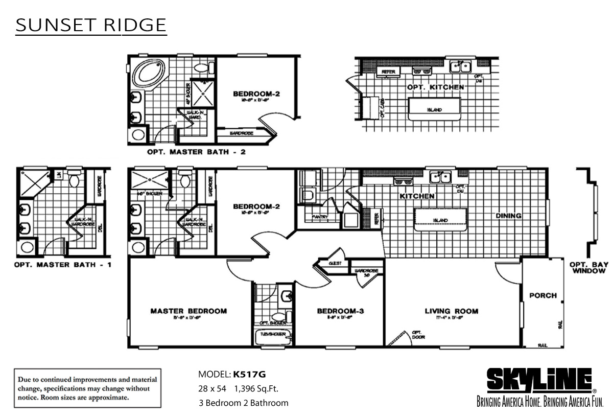 Floor Plan Sunset Ridge K517G