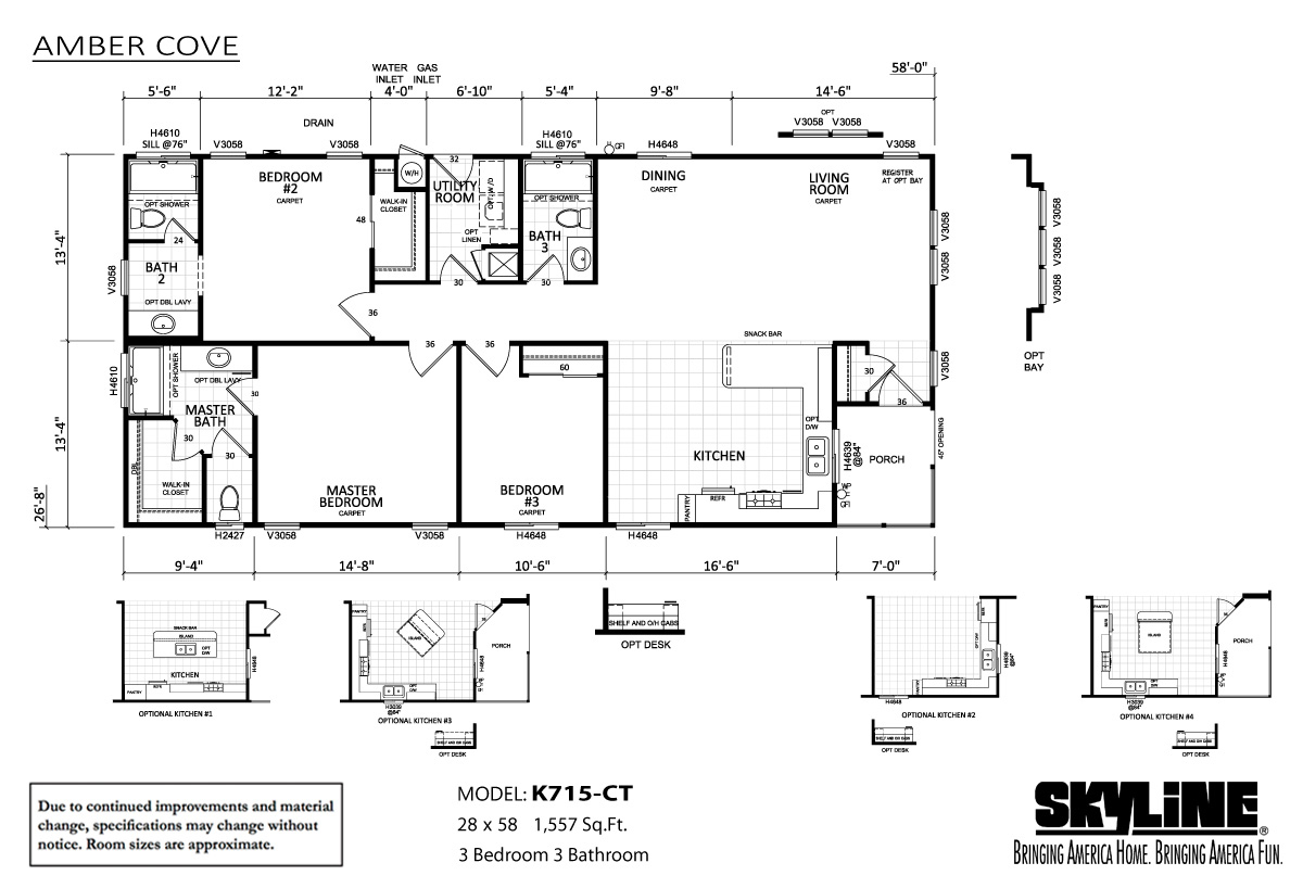 Floor Plan Layout: Amber Cove / K715-CT
