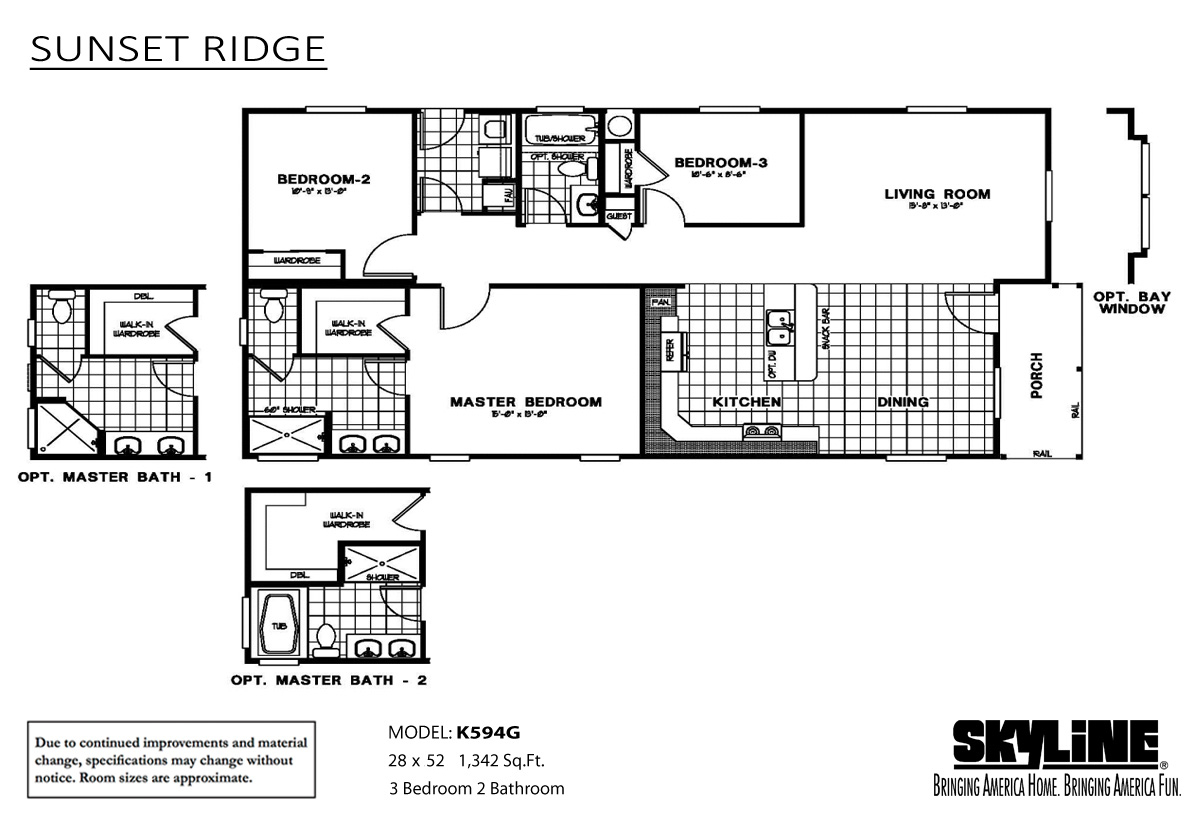 Floor Plan Layout: Sunset Ridge / K594G