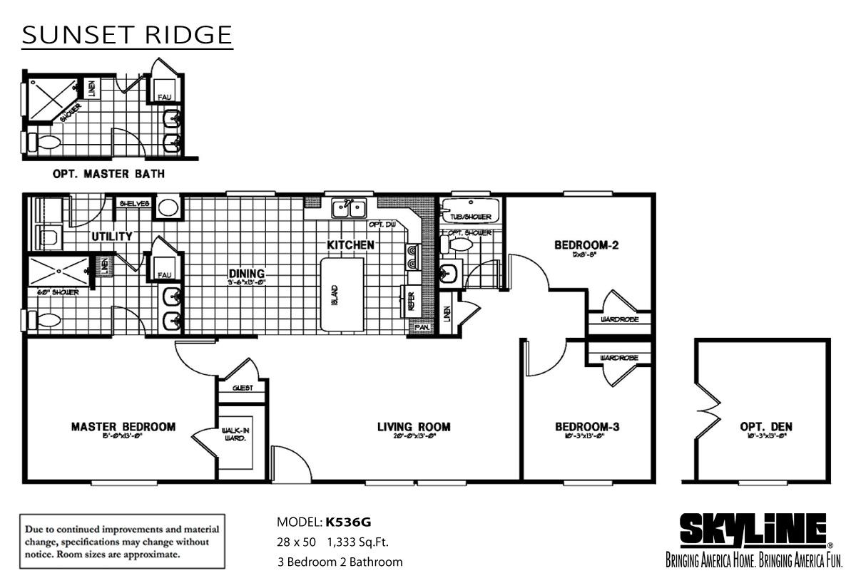 Floor Plan Layout: Sunset Ridge / K536G