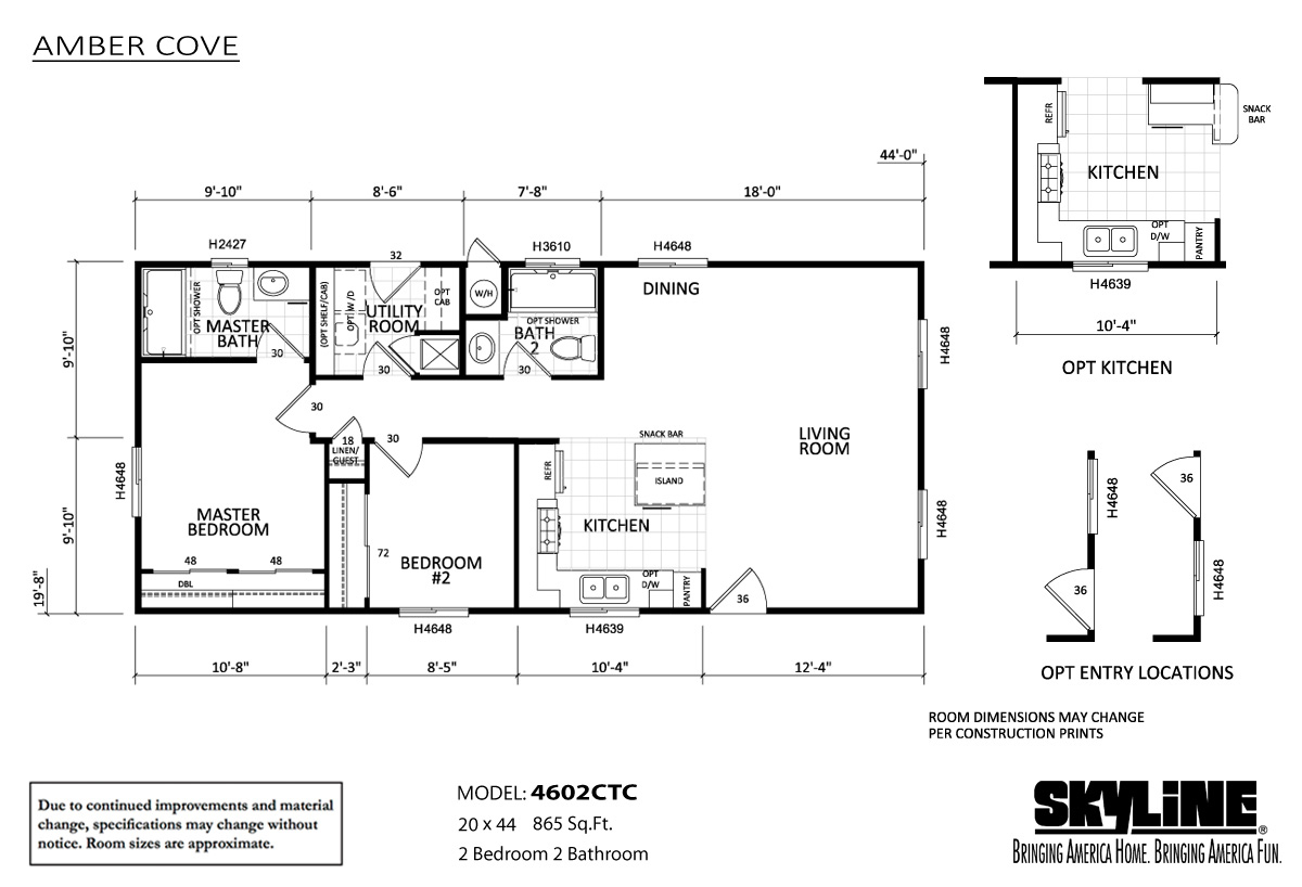 Floor Plan Layout: Amber Cove / 4602CTC