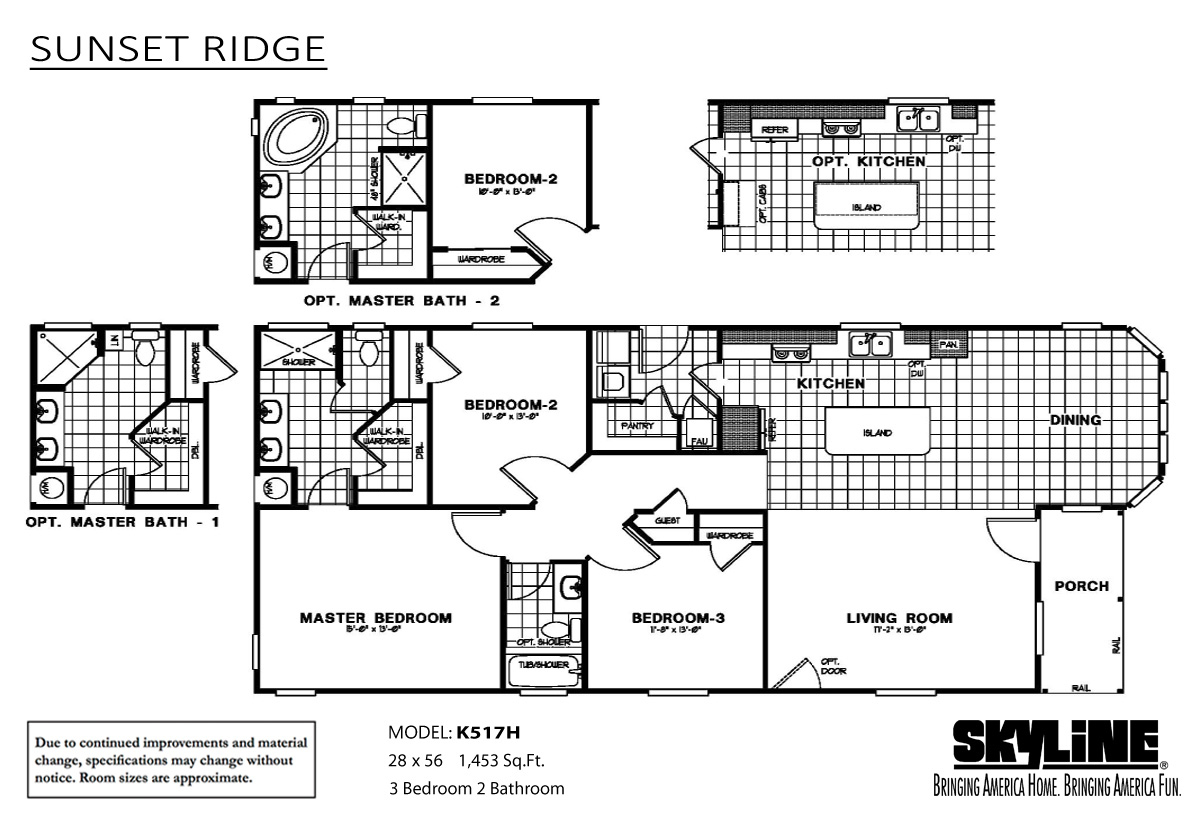 Floor Plan Layout: Sunset Ridge/K517H