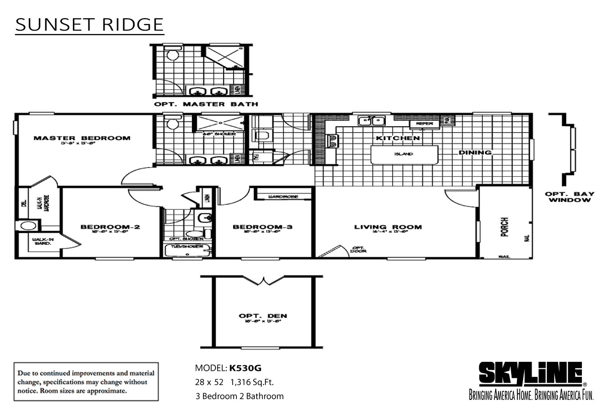 Floor Plan Layout: Sunset Ridge / K530G