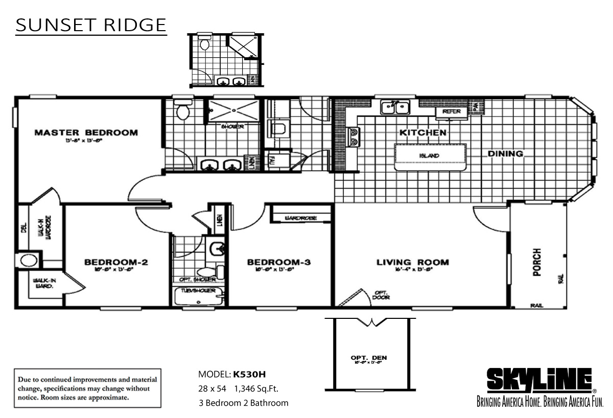 Floor Plan Layout: Sunset Ridge / K530H