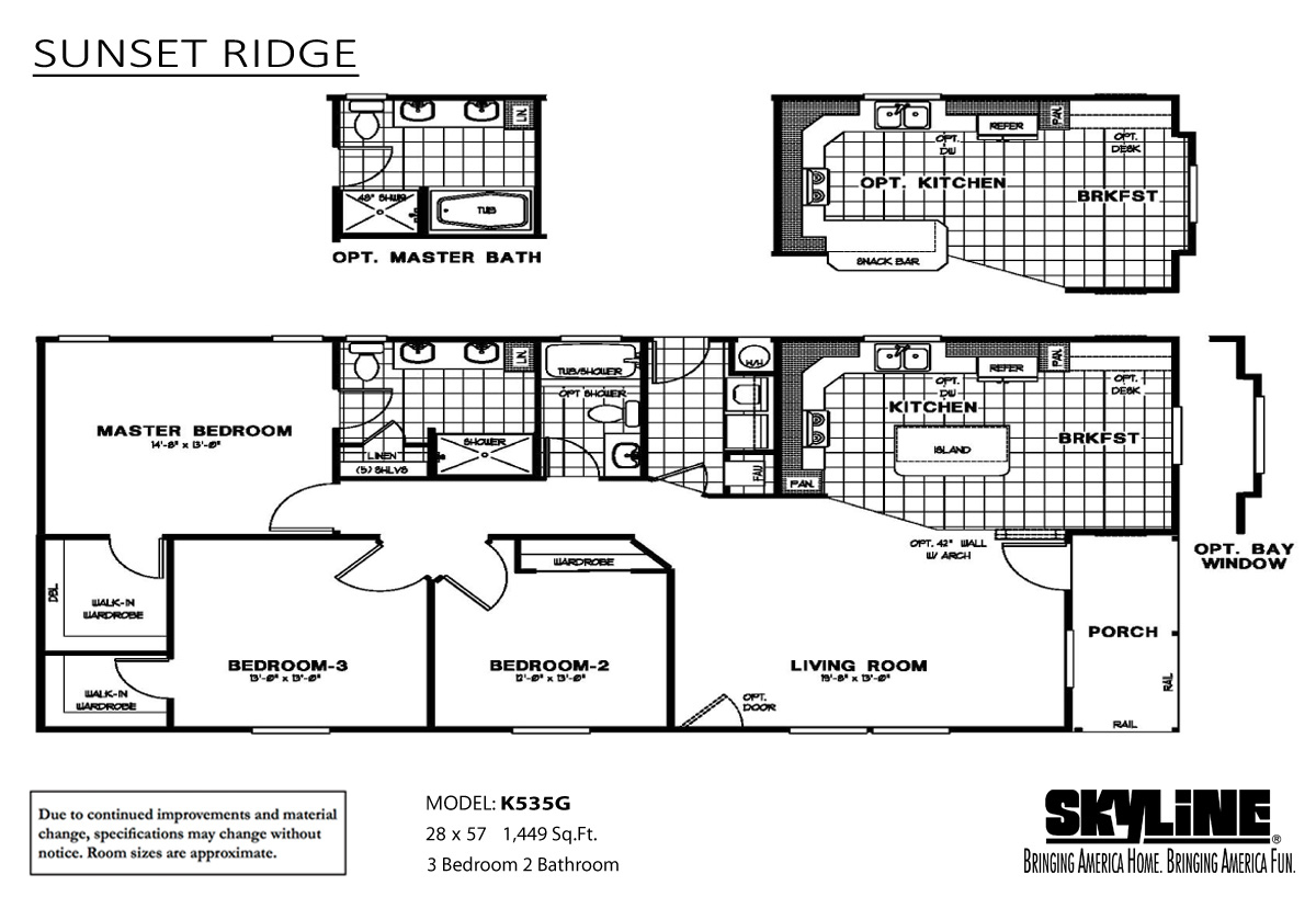 Floor Plan Layout: Sunset Ridge / K535G