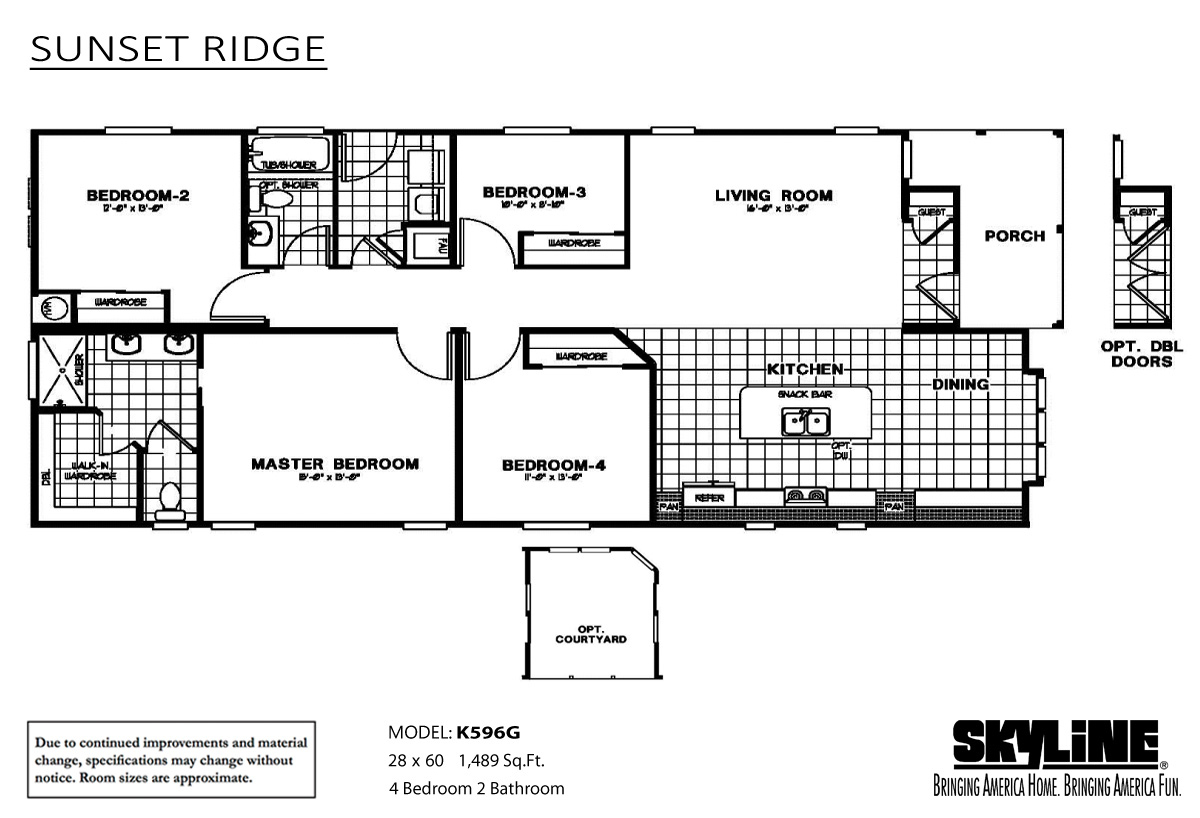 Sunset ridge k596g home by ideal manufactured homes for Sunset home plans