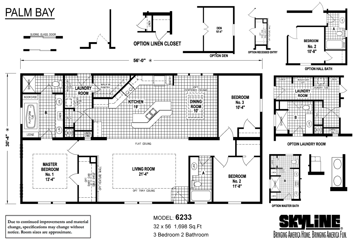 Floor Plan Layout: Palm Bay/6233