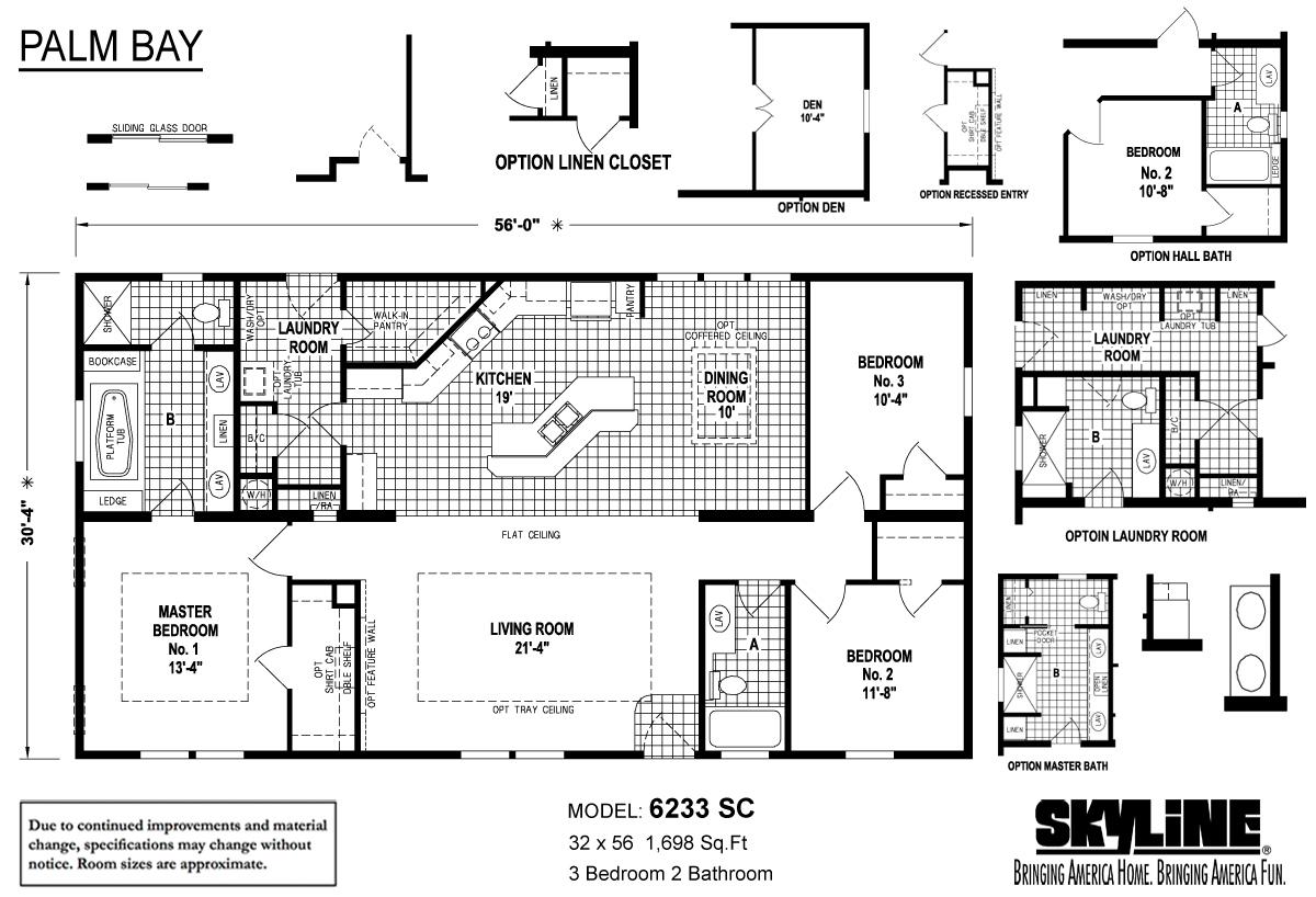 Floor Plan Layout: Palm Bay / 6233 SC