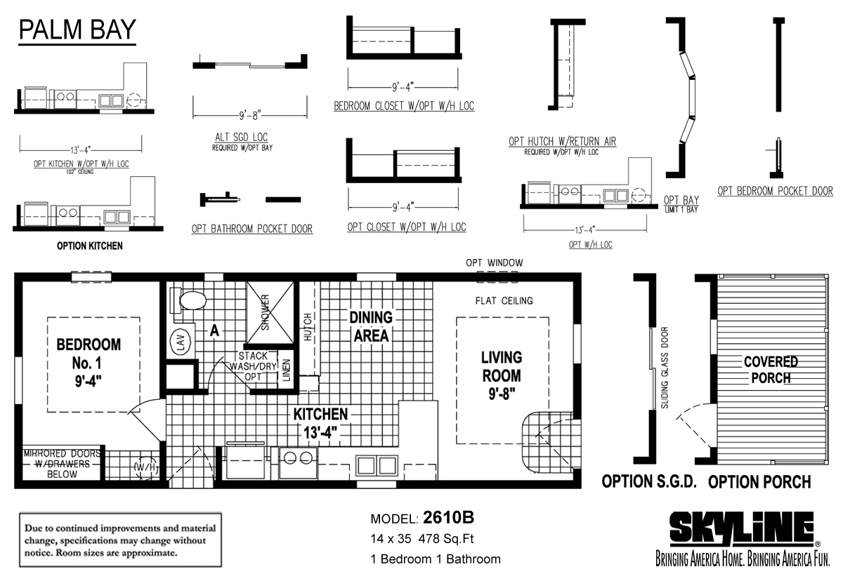 Floor Plan Layout: Palm Bay / 2610B