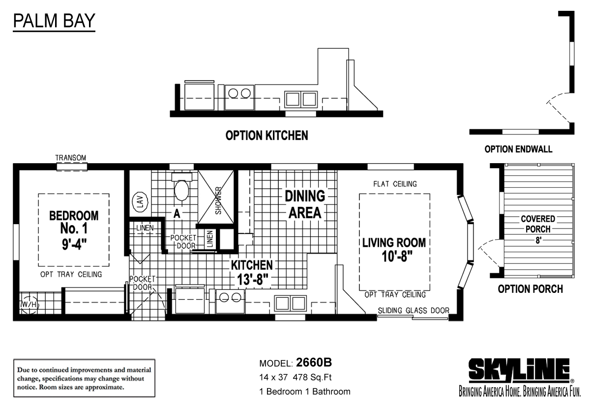 Floor Plan Layout: Palm Bay / 2660B