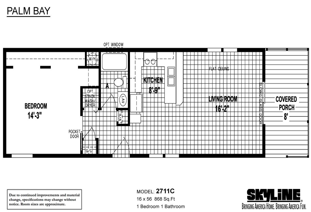 Floor Plan Layout: Palm Bay / 2711C