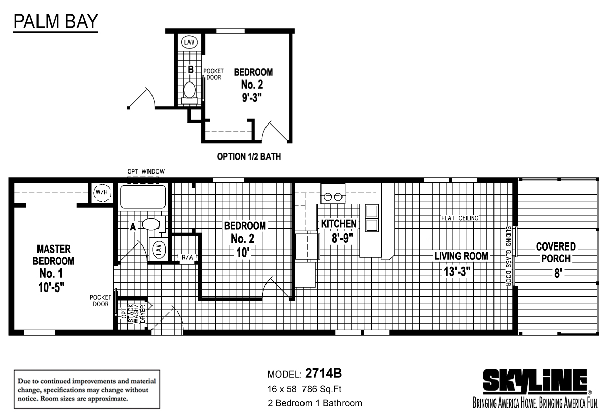 Floor Plan Layout: Palm Bay / 2714B