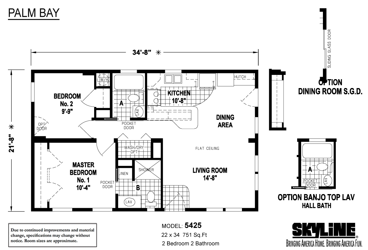 Floor Plan Layout: Palm Bay / 5425
