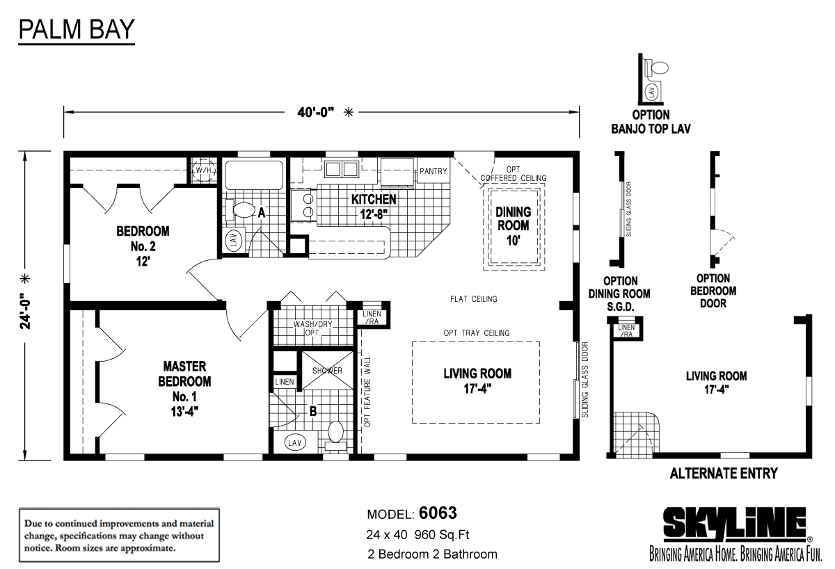 Floor Plan Layout: Palm Bay / 6063